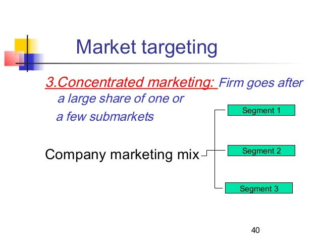 company introduction market segmentation and product positioning Products and services involves the selection of attributes that are considered important for consumers in order to gain a strong position on the market the companies must perform a market analysis, an internal analysis and a competition analysis key words: positioning market company jel codes: m31 m37 introduction.
