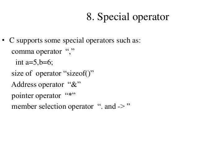 Operators in C Programming