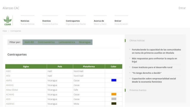 Constructing an Online Information System for Central America and  the Caribbean