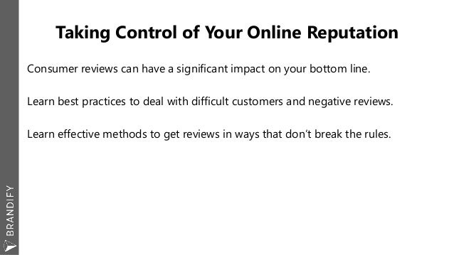 LSA Bootcamp Portland: Taking Control of Your Online Reputation Slide 2