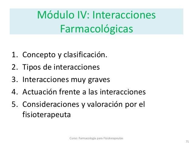 4 interacciones for Farmacologia para fisioterapeutas