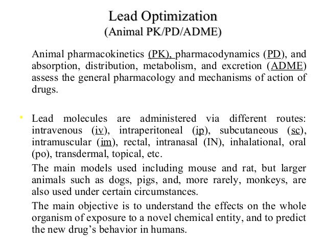 Between Dose and Response: Pharmacokinetics ...