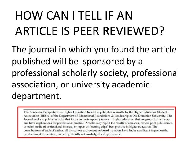 peer review paper