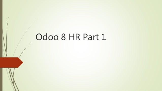 Odoo 8 HR Part 1