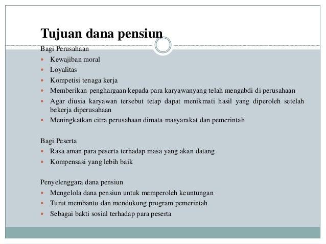 Dana pensiun - Wikipedia bahasa Indonesia, ensiklopedia bebas