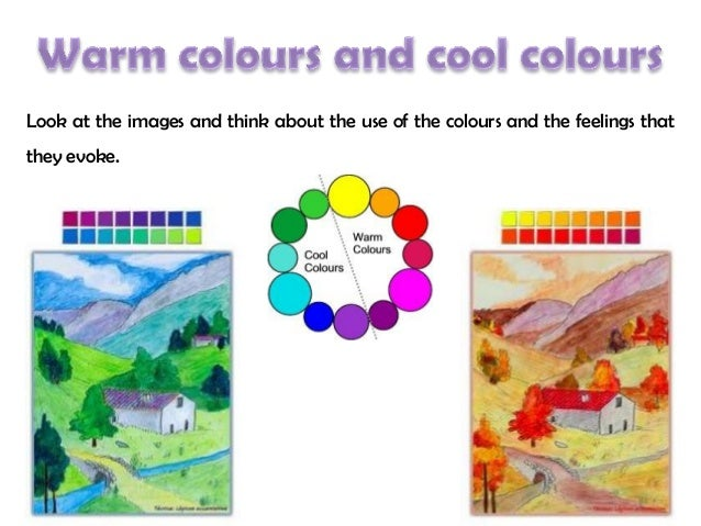 4. cool colours and warm colours