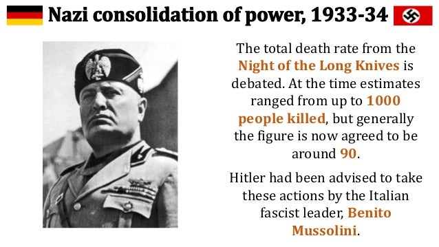 nazi consolidation of power essay