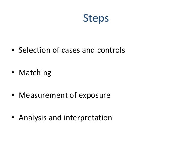 sources of bias in case control studies Observational studies and bias in epidemiology manuel bayona department of epidemiology school of public health university of north texas epidemiologic study designs and their potential for bias with emphasis on case-control studies this information could be presented to students in a lecture.