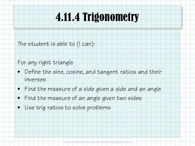 4.11.4 Trigonometry