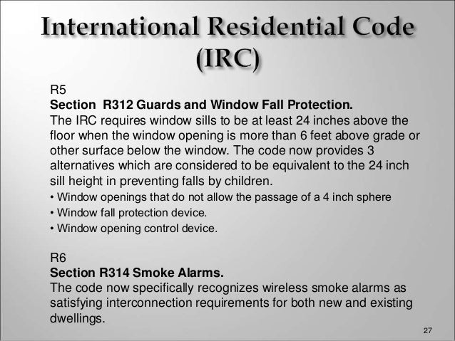 City of salina presentation information about proposed for International residential code irc