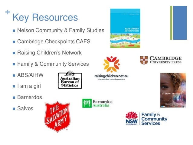 community and family study The syllabus, assessment and reporting information, past hsc exam papers, and other support materials for the community and family studies course.