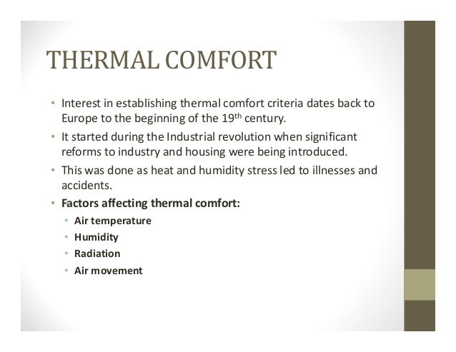 4 thermal comfort for Indoor design conditions ashrae