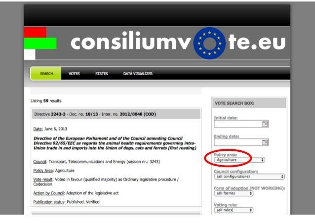 Consiliumvote.eu - Diplohack Brussels
