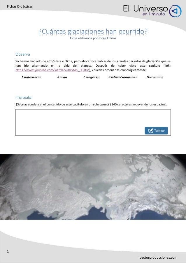1 Fichas Didácticas vectorproducciones.com Ficha elaborada por Jorge J. Frías Observa Ya hemos hablado de atmósfera y clim...