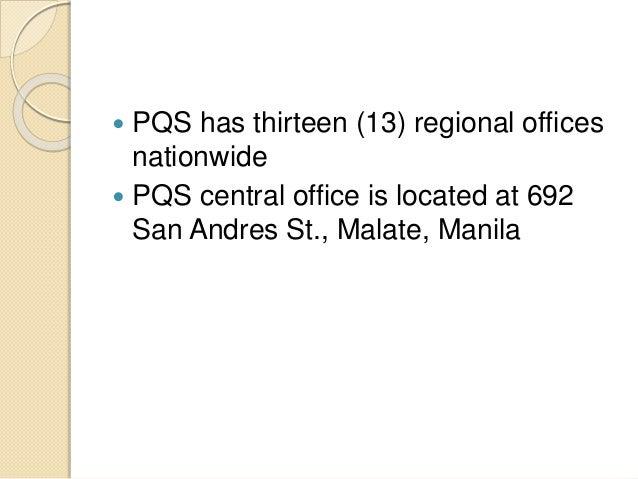 Regulatory control for Bureau quarantine philippines