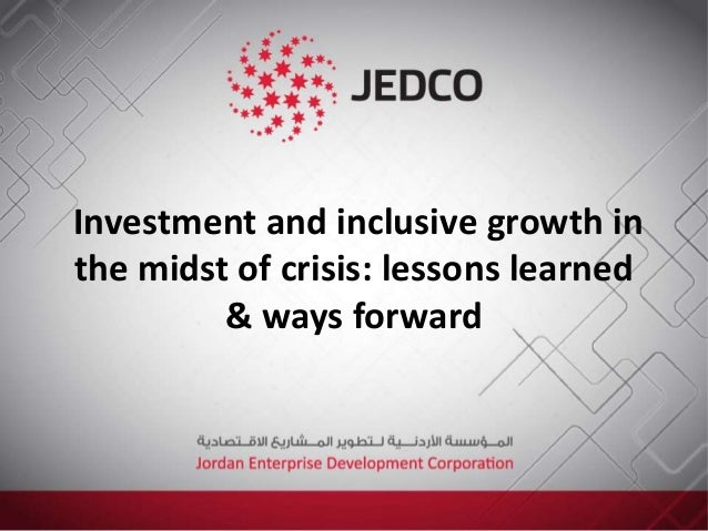 Investment and inclusive growth in the midst of crisis: lessons learned & ways forward