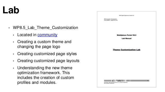 IBM Digital Experience Theme Customization