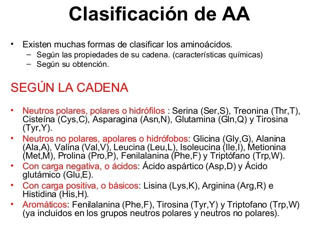 10 No polares alifáticos H2N CH C H OH O H2N CH C CH3 OH O H2N CH C CH OH O CH3 CH3 H2N CH C CH2 OH O CH CH3 CH3 GLICINA G...