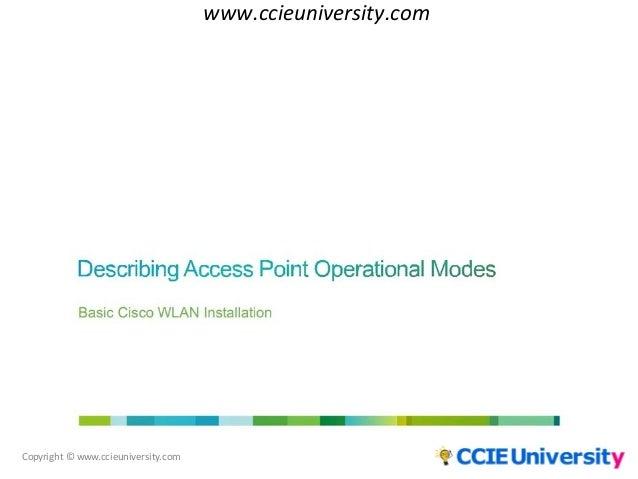 describing access point operational modes