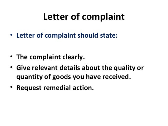 4 letter of complaint letter of complaint spiritdancerdesigns Image collections