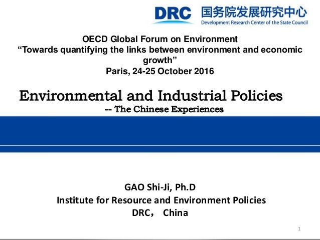 """OECD Global Forum on Environment """"Towards quantifying the links between environment and economic growth"""" Paris, 24-25 Octo..."""