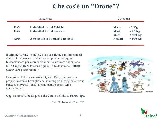 """Che cos'è un """"Drone""""? Il termine """"Drone"""" è inglese e la sua origine è militare: negli anni 1930 la marina britannica svilu..."""