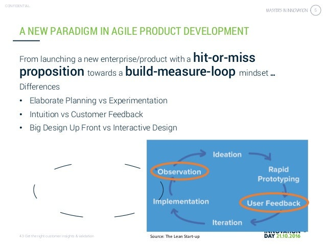 4.3 Get the right customer insights & validation CONFIDENTIAL 5 A NEW PARADIGM IN AGILE PRODUCT DEVELOPMENT From launching...