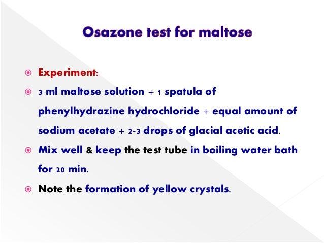 Reactions of lactose & maltose  Reactions of la...