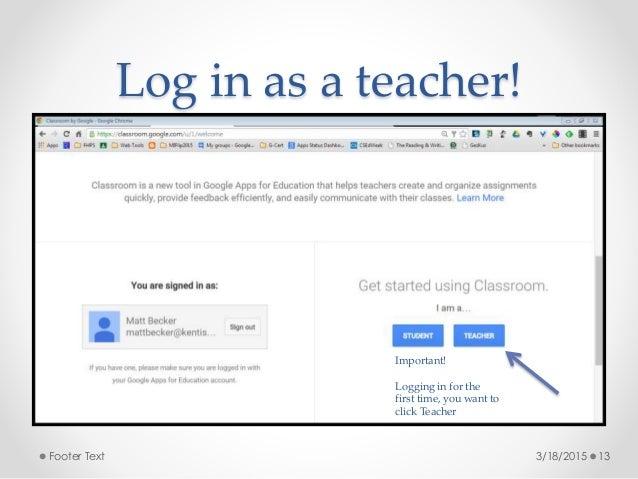 google classroom sign