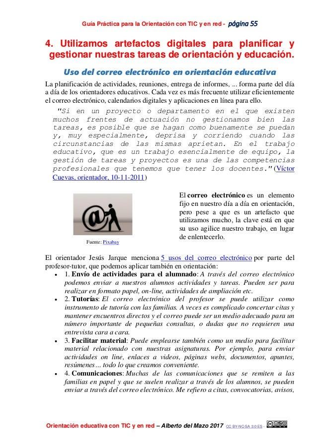 Guía Práctica para la Orientación con TIC y en red - página 55 Orientación educativa con TIC y en red – Alberto del Mazo 2...