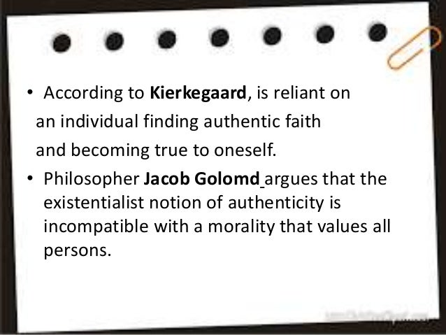 Authenticity and inauthenticity