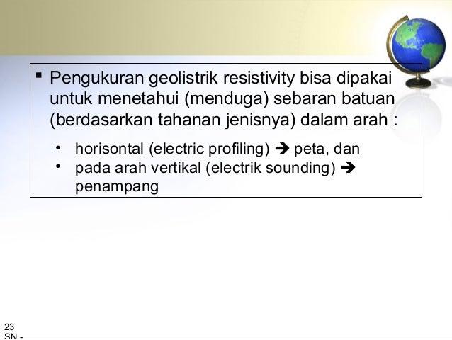 Penampang hasil survey geolistrik resistivity : soundingg 25