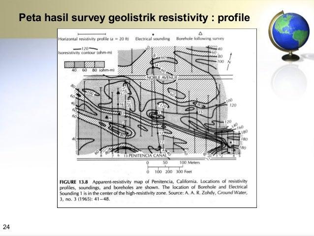 PENAMPANG HASIL KAJIAN GEOLISTRIK Pada penampang ini tidak ditemukan lapisan akuifer yang produktif