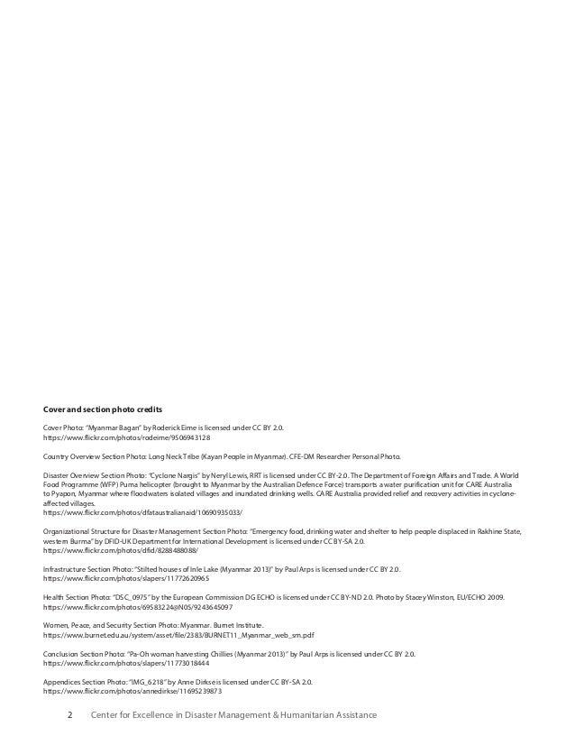 Myanmar disaster management reference handbook Slide 2