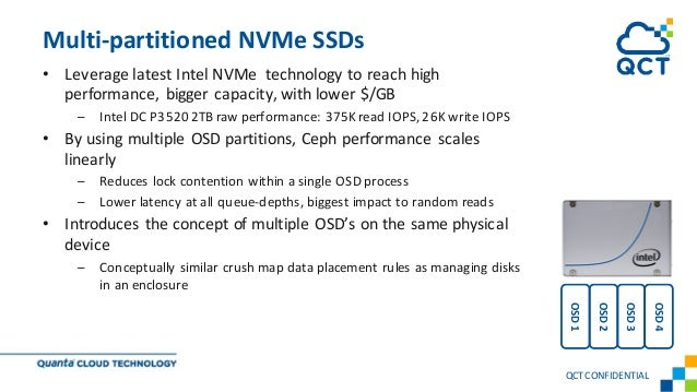 • Leverage latest Intel NVMe technology to reach high performance, bigger capacity, with lower $/GB – Intel DC P3520 2TB r...