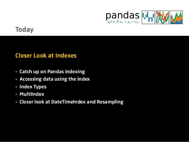 Neat Analytics with Pandas Indexes, Alexander Hendorf  Slide 3