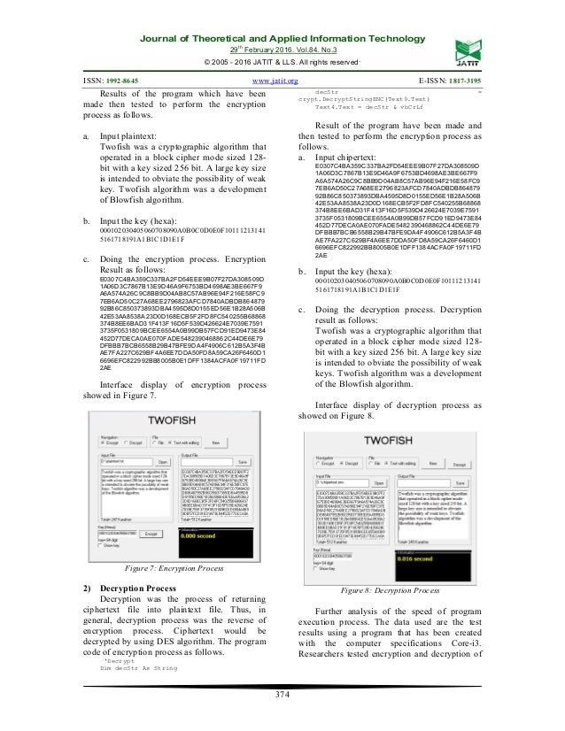 IMPLEMENTATION TWOFISH ALGORITHM FOR DATA SECURITY IN A