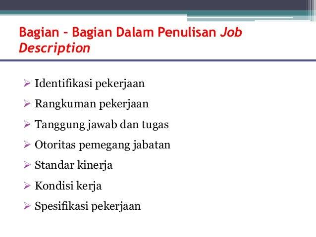 PPT Manajemen bakat dan analisis jabatan in Bahasa
