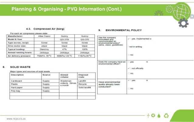 www.ncpc.co.za Planning & Organising - PVQ Information (Cont.)