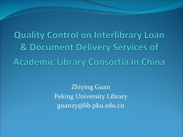 ZhiyingGuan PekingUniversityLibrary guanzy@lib.pku.edu.cn
