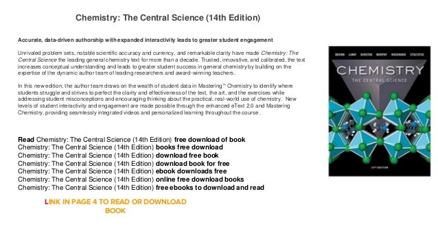 chemistry the central science 14th edition online free
