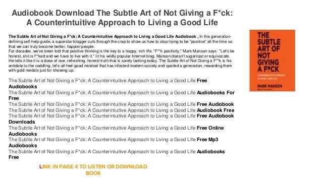 the subtle art of not giving a fck pdf download