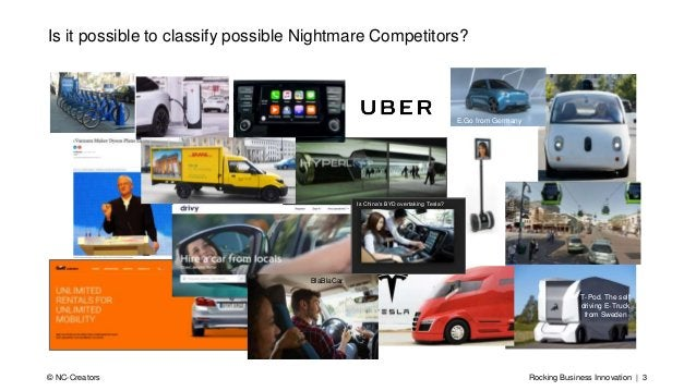 Rocking Business Innovation | 3© NC-Creators Is it possible to classify possible Nightmare Competitors? T-Pod. The self dr...