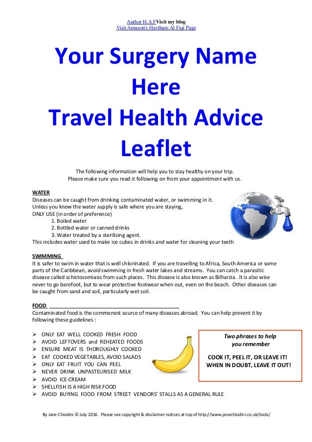 Your surgery name here travel health advice leaflet 1 638gcb1520509511 author hafvisit my blog visit amazons haytham al fiqi page your surgery name here travel solutioingenieria
