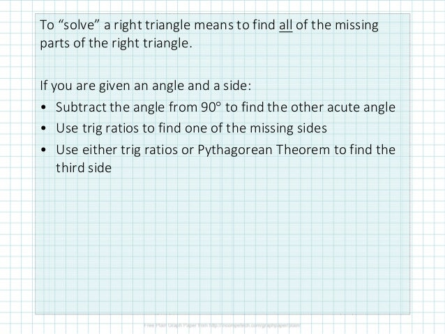 4.12.2 Solving Right Triangles