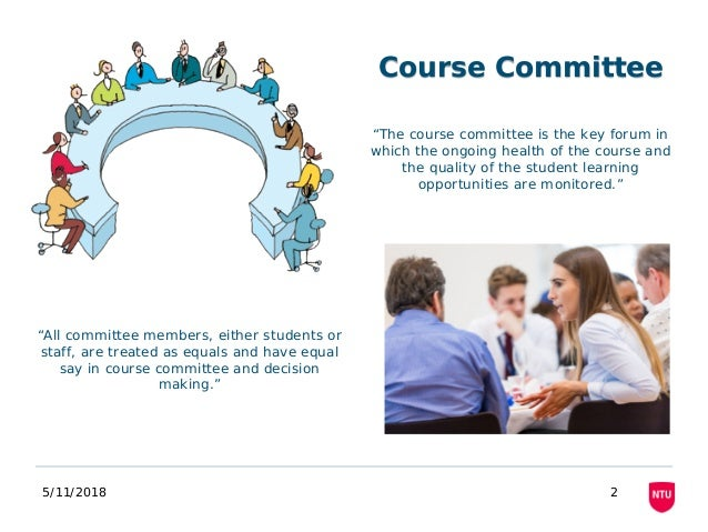 """5/11/2018 2 """"The course committee is the key forum in which the ongoing health of the course and the quality of the studen..."""