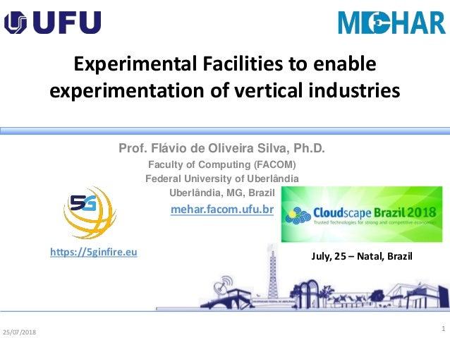 25/07/2018 Experimental Facilities to enable experimentation of vertical industries Prof. Flávio de Oliveira Silva, Ph.D. ...