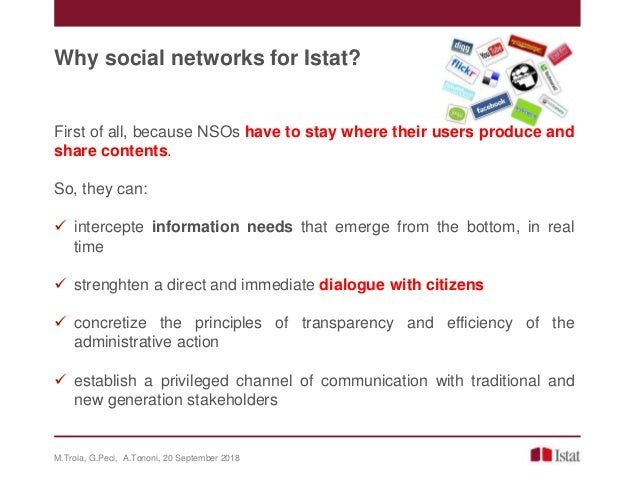 IAOS 2018 - Social media communication: a new strategy to