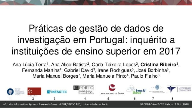 InfoLab - Information Systems Research Group - FEUP/ INESC TEC, Universidade do Porto 9ª CONFOA— ISCTE, Lisboa 2 Out 2018 ...