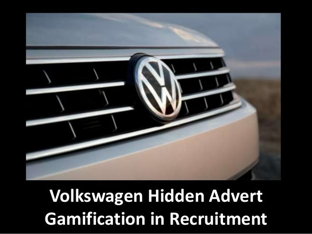 Volkswagen Hidden Advert Gamification in Recruitment